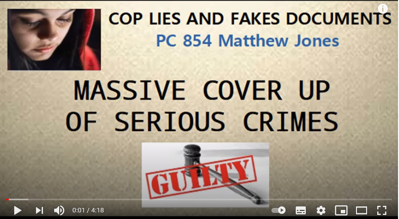 COP LIES AND FAKES DOCUMENTS